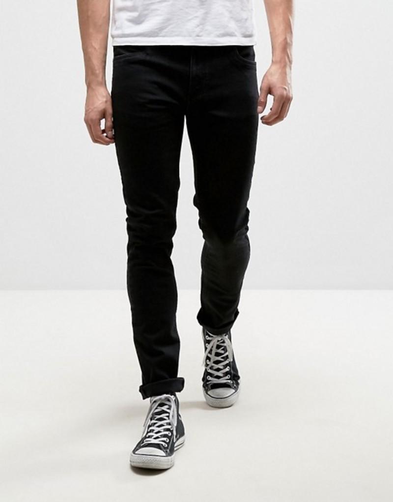 ファーラー メンズ デニムパンツ ボトムス Farah Drake slim fit jeans in black Black