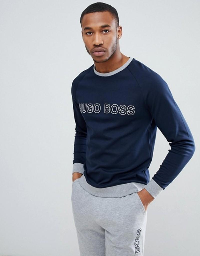 ボス メンズ パーカー・スウェット アウター BOSS Contemporary Bodywear Sweatshirt Navy