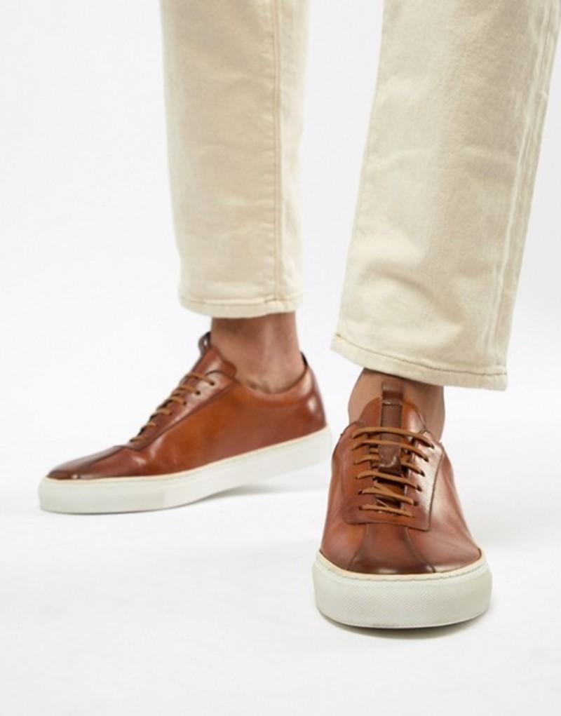 グレンソン メンズ スニーカー シューズ Grenson sneakers in tan leather Tan
