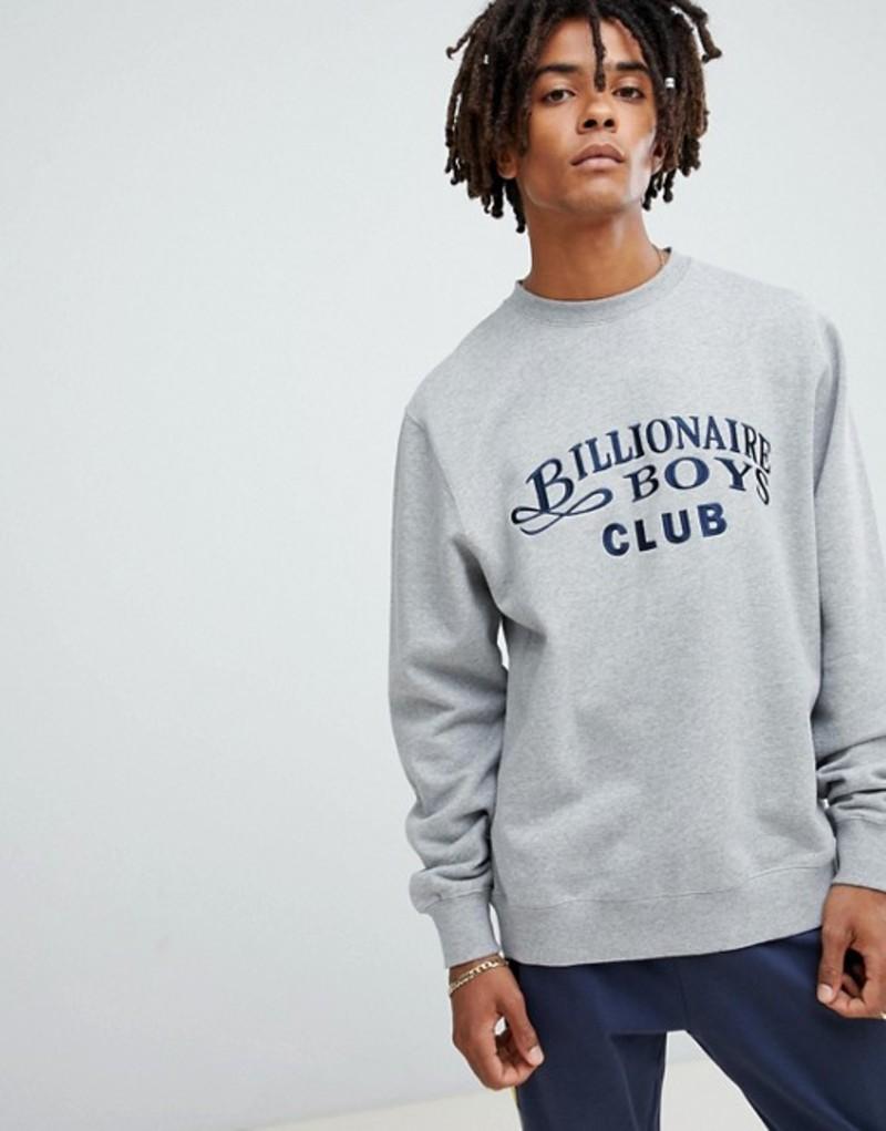 ビリオネアボーイズクラブ メンズ パーカー・スウェット アウター Billionaire Boys Club sweatshirt with embroidered logo in gray Grey
