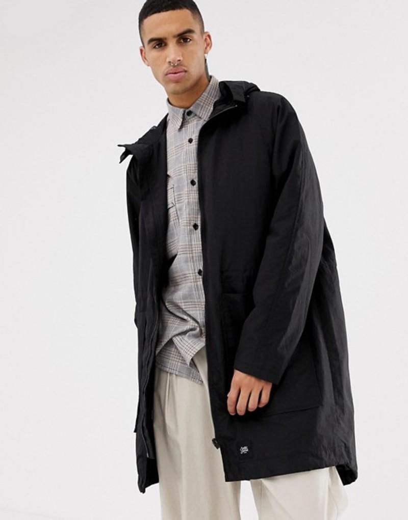 シックスジュン メンズ パーカー・スウェット アウター Sixth June lightweight jacket in black with hood Black