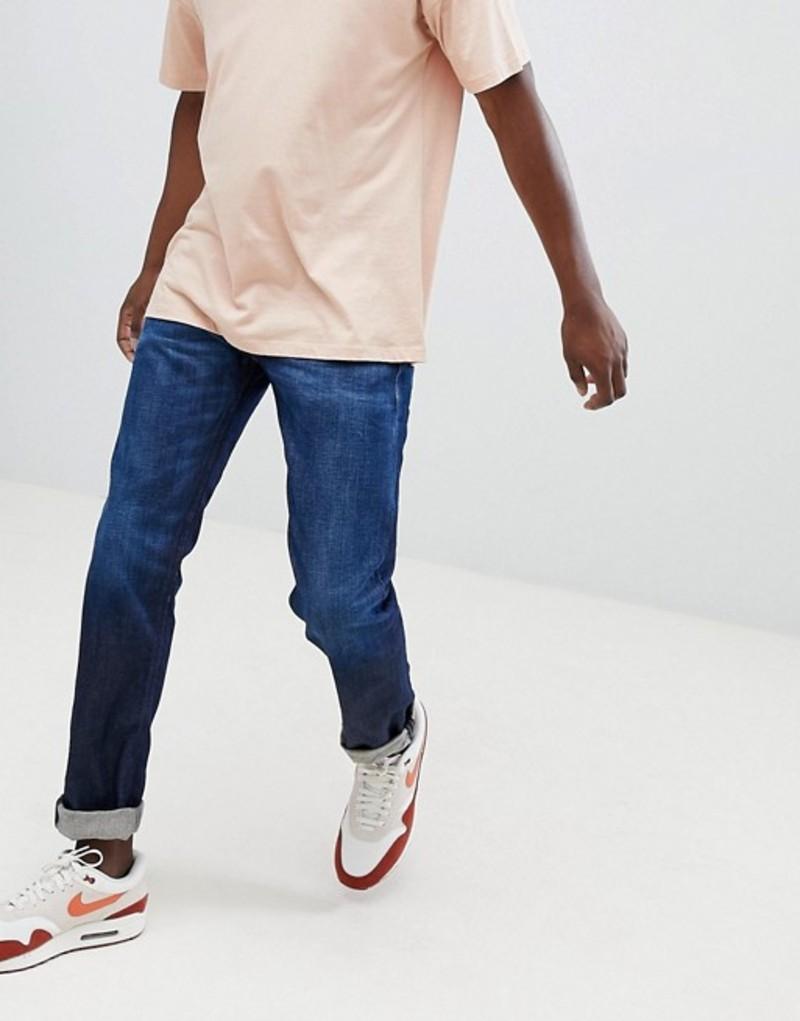 リプレイ メンズ デニムパンツ ボトムス Replay ronas slim ice blast jeans in dark wash Blue