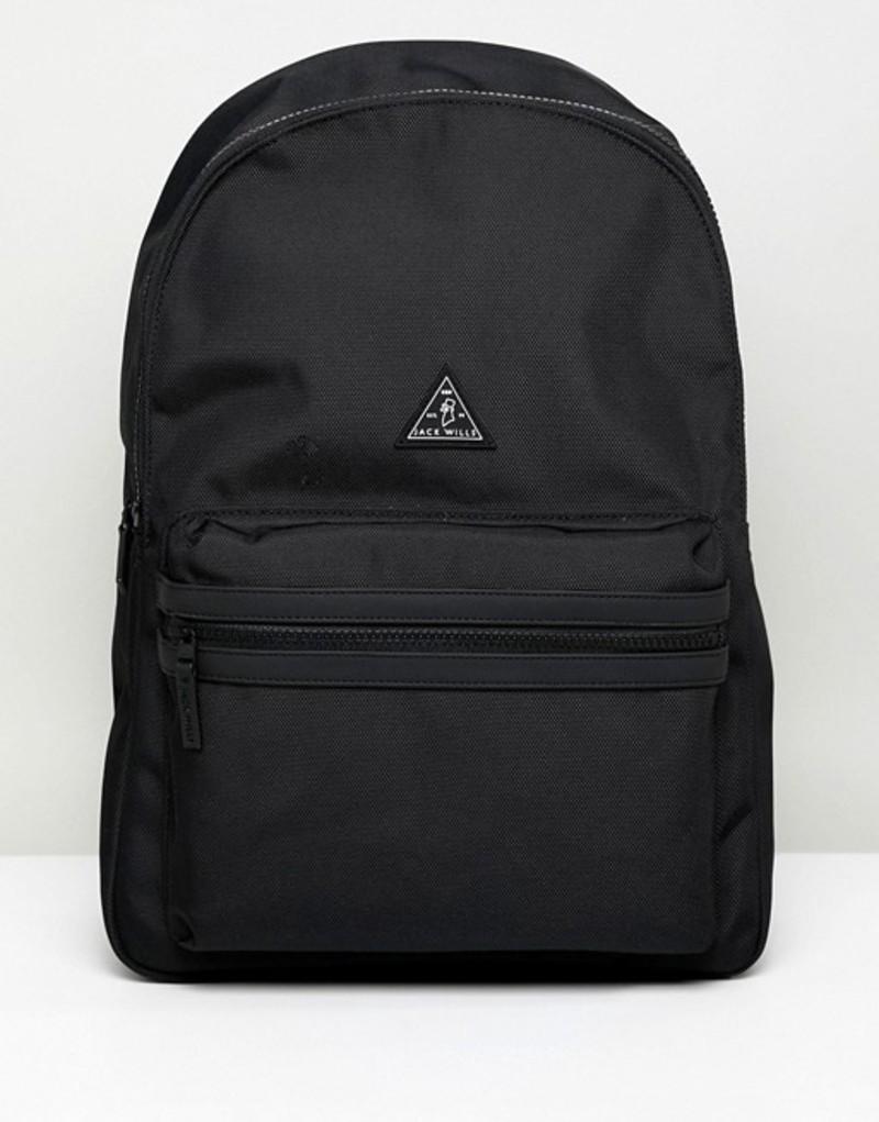 ジャック ウィルス メンズ バックパック・リュックサック バッグ Jack Wills Thurso Core Backpack in Black Black