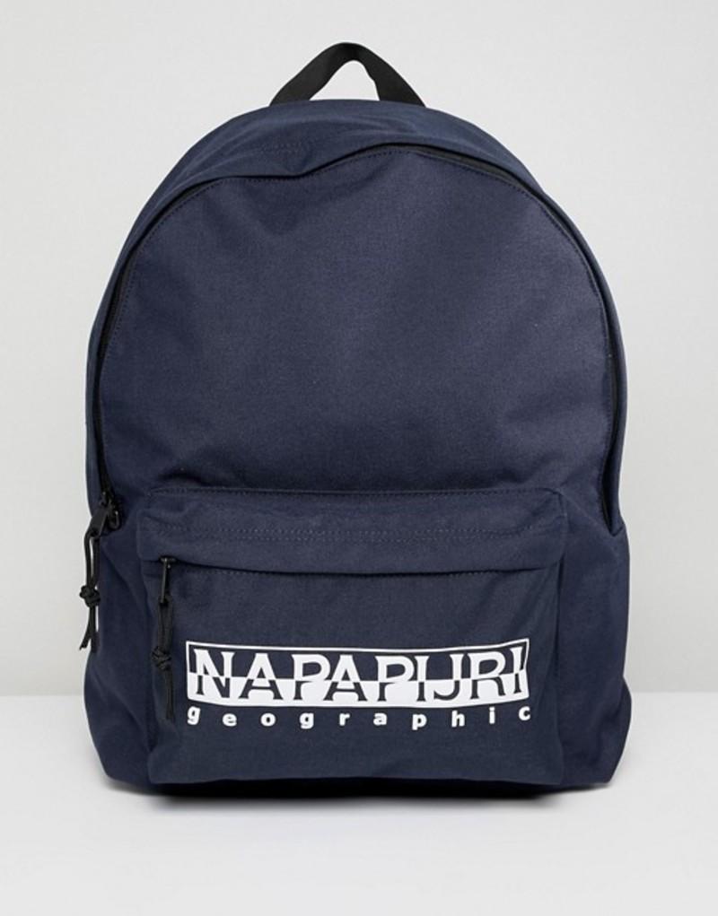 ナパピリ メンズ バックパック・リュックサック バッグ Napapijri Hala Logo Backpack With Taping In Navy TRIBE PACK 176