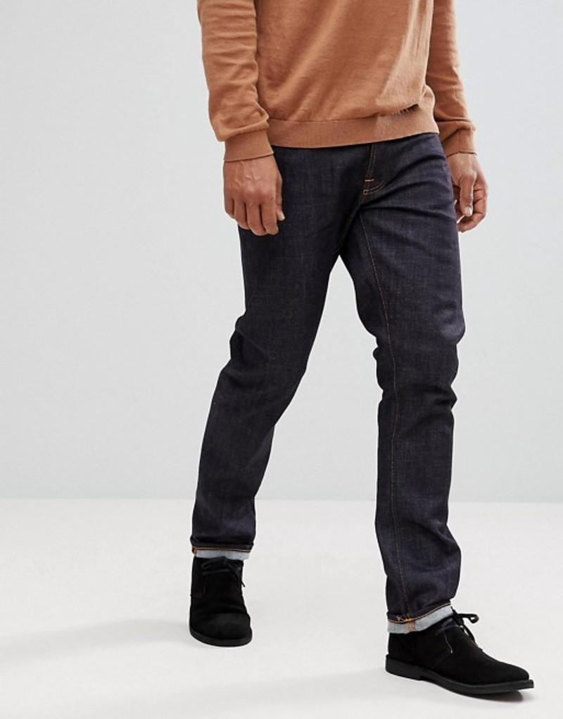 ヌーディージーンズ メンズ デニムパンツ ボトムス Nudie Jeans Co Dude Dan straight fit jeans in dark blue Navy
