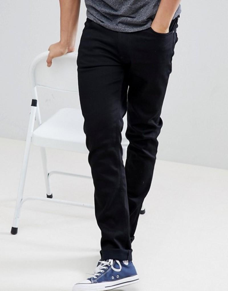 ヌーディージーンズ メンズ デニムパンツ ボトムス Nudie Jeans Co Lean Dean jeans in ever black Black