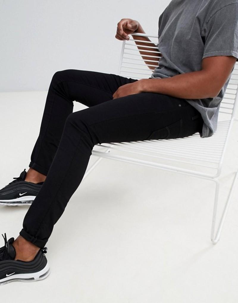 ジースター メンズ デニムパンツ ボトムス G-Star Beraw 3301 super slim fit jeans in black Black