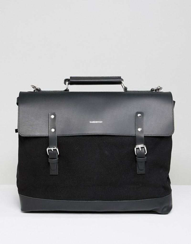 サンドクヴィスト メンズ バックパック・リュックサック バッグ Sandqvist Jones backpack in black Black
