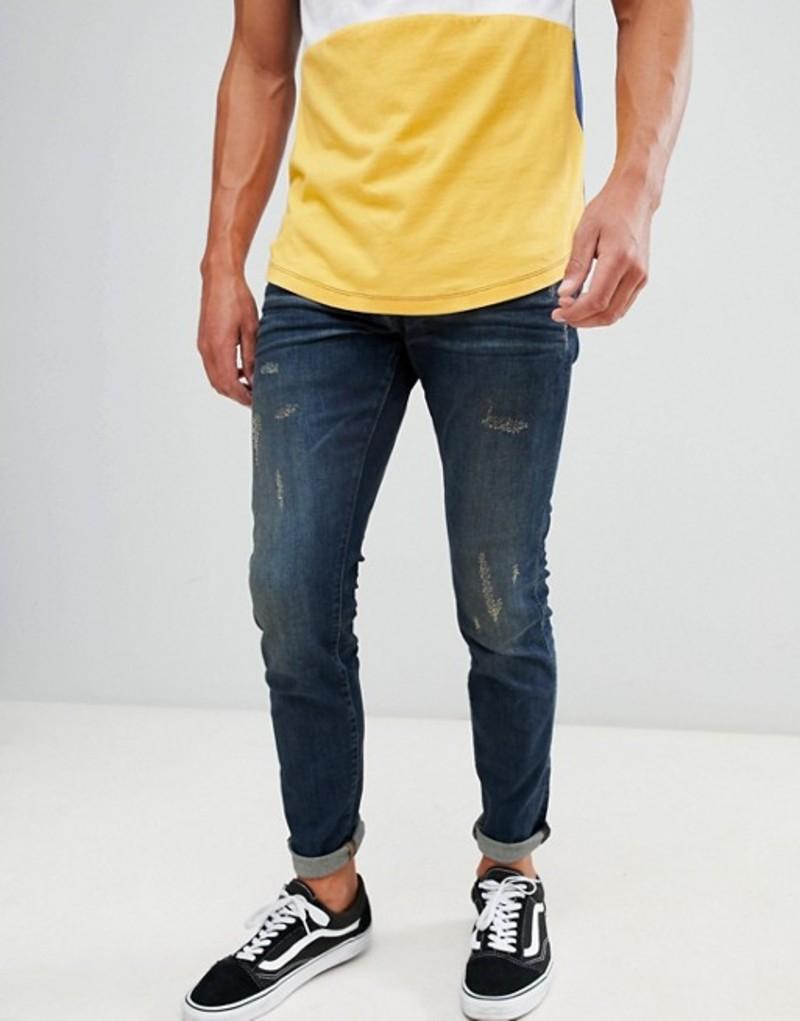 ジースター メンズ デニムパンツ ボトムス G-Star 3301 deconstructed skinny jeans dk antic aged Dk aged antic destro
