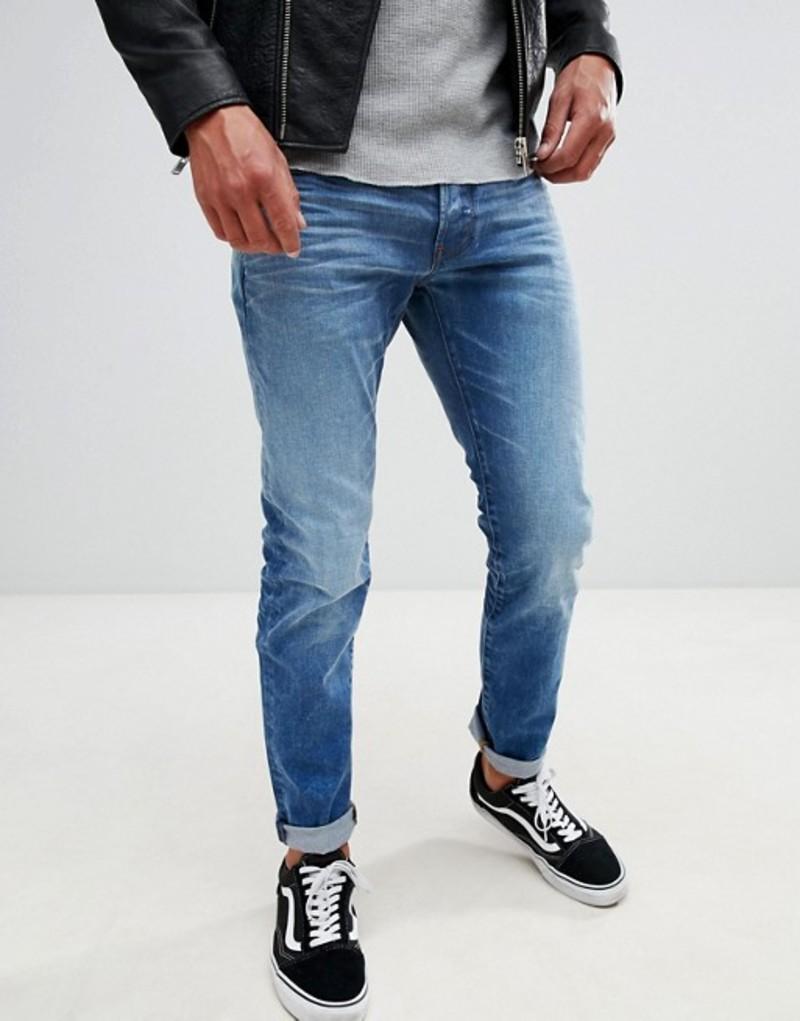 ジースター メンズ デニムパンツ ボトムス G-Star 3301 slim jeans light aged Lt aged