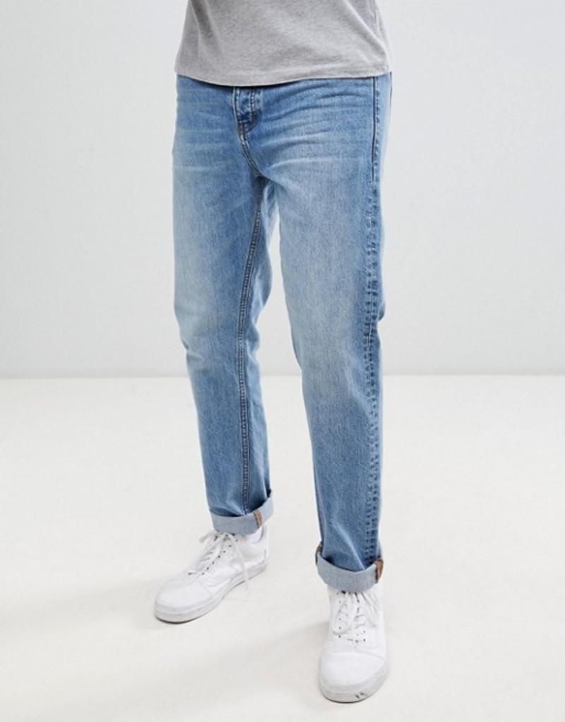 ドクターデニム メンズ デニムパンツ ボトムス Dr Denim Gus relaxed straight jeans in light blue wash Light blue wash