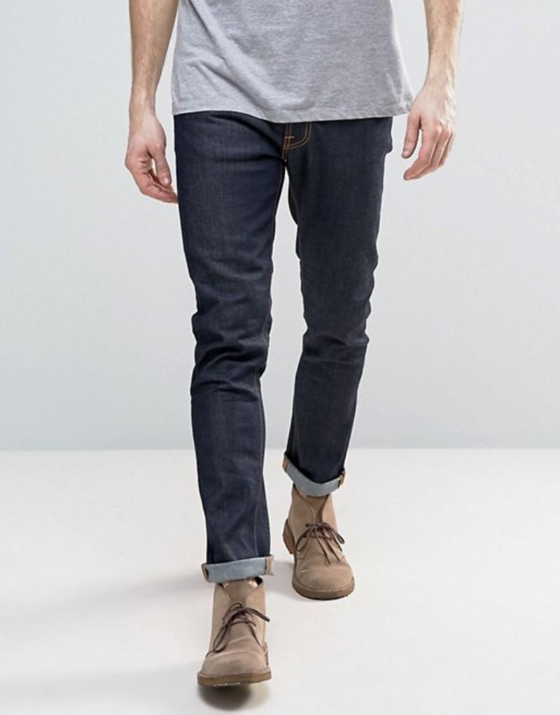 ヌーディージーンズ メンズ デニムパンツ ボトムス Nudie Jeans Lean Dean slim tapered 16 dips jeans in blue Navy