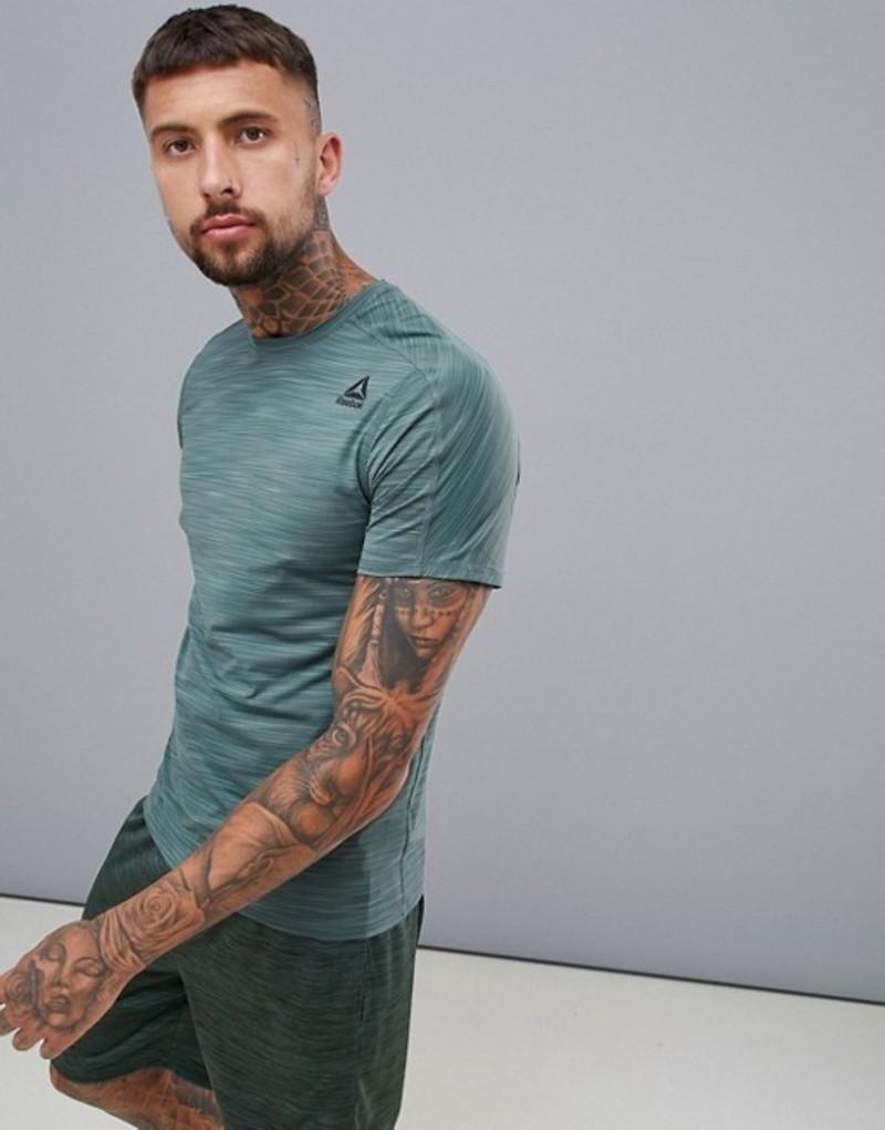 リーボック メンズ Tシャツ トップス Reebok Training Activchill Move T-Shirt In Green D93746 Green