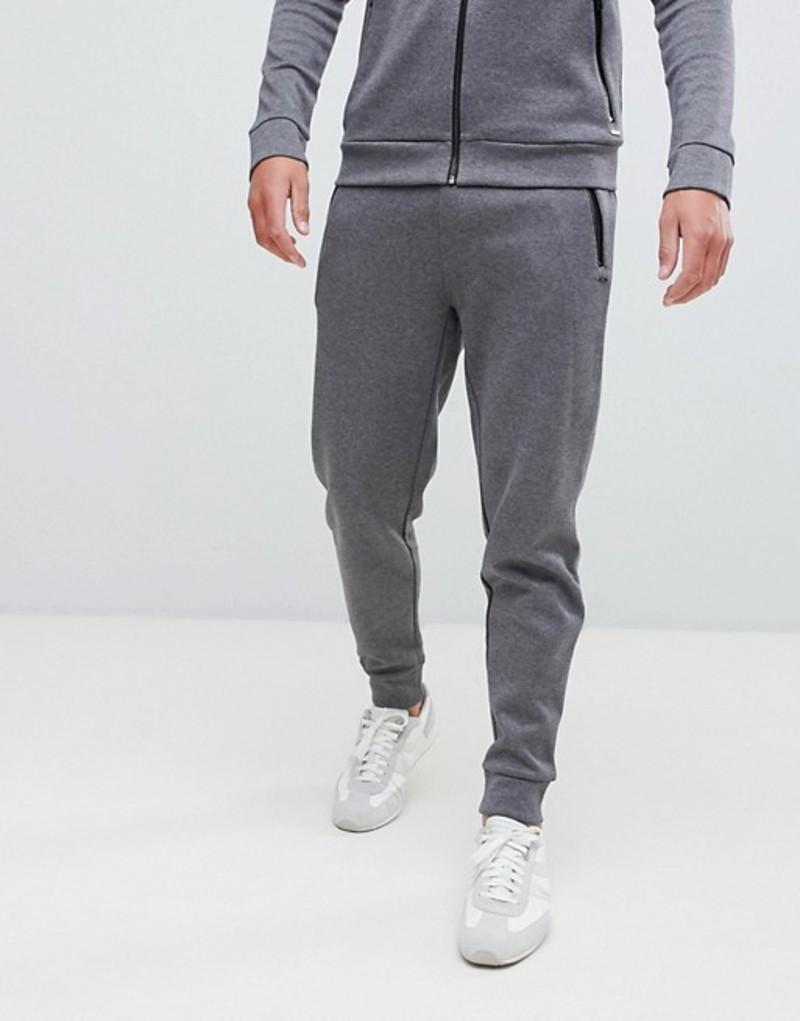 フューゴ メンズ カジュアルパンツ ボトムス HUGO Derg slim fit joggers in gray Grey