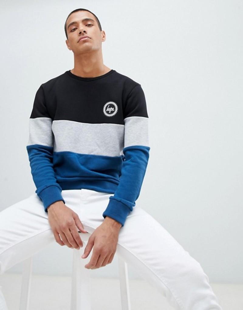 ハイプ メンズ パーカー・スウェット アウター Hype sweatshirt with cut and sew panel Blue