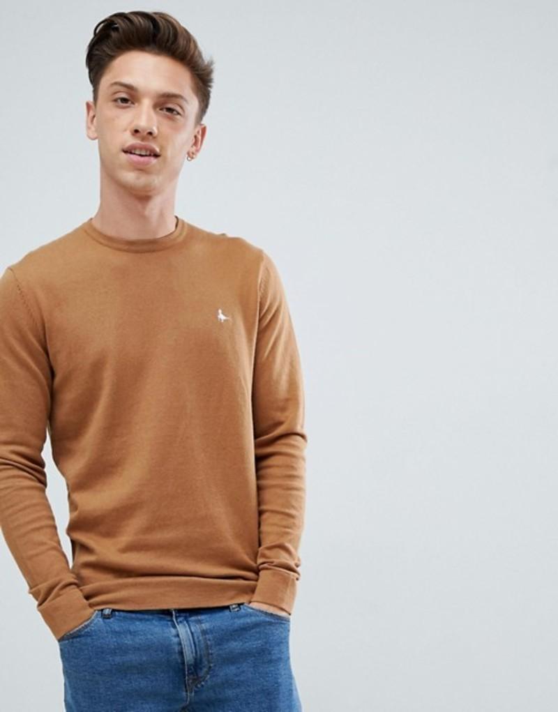 ジャック ウィルス メンズ ニット・セーター アウター Jack Wills Seabourne crew neck sweater in camel Tan
