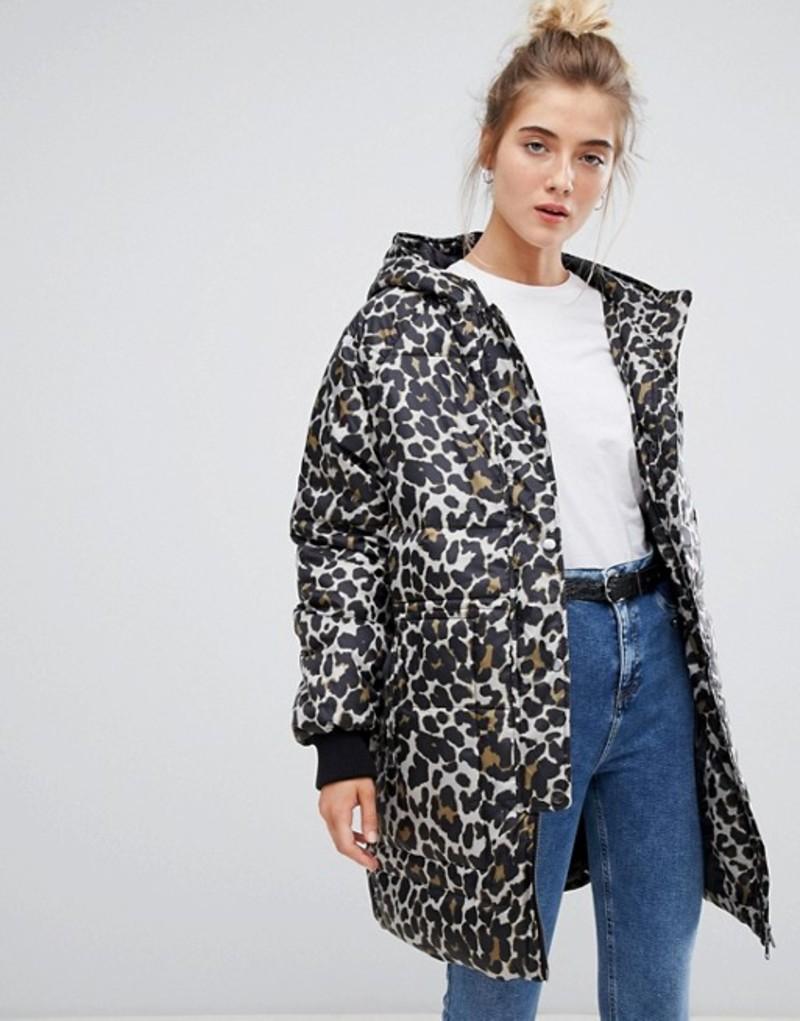 ソークドインラグジュアリー レディース ジャケット・ブルゾン アウター Soaked In Luxury Leopard Print quilted Jacket Multi color