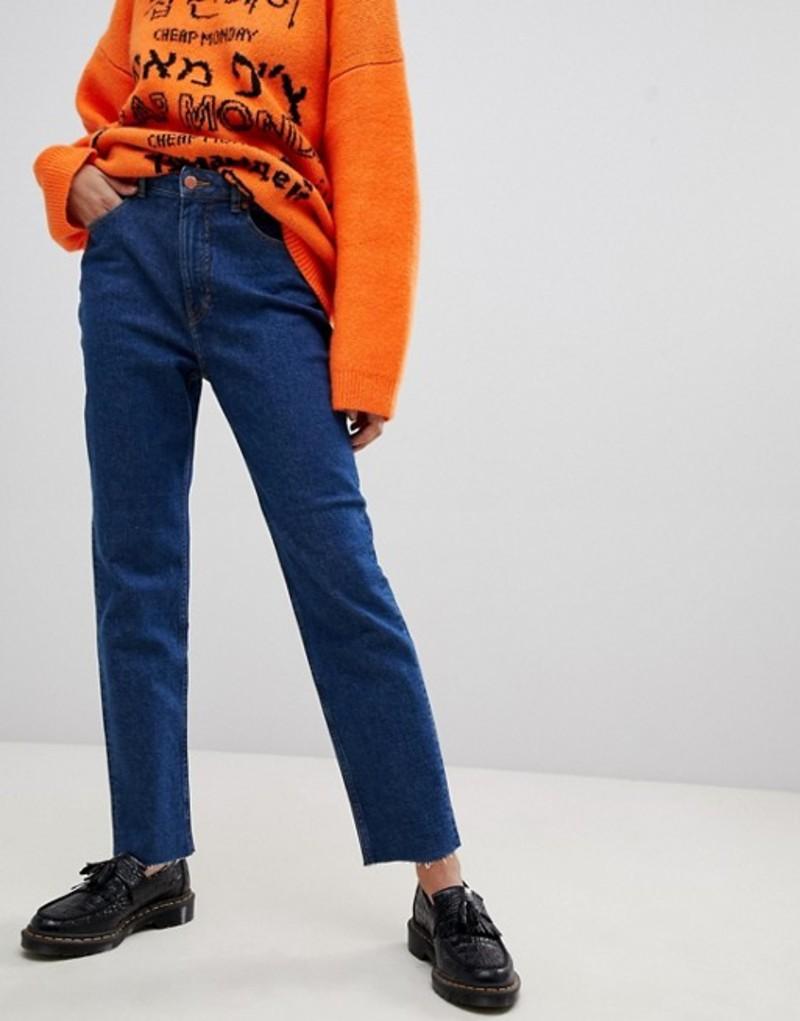 チープマンデー レディース デニムパンツ ボトムス Cheap Monday Donna mom jeans Abstract blue