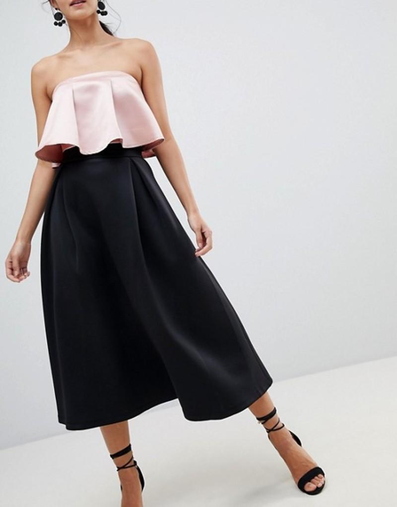 エイソス レディース スカート ボトムス ASOS High Waisted Scuba Midaxi Prom Skirt Black