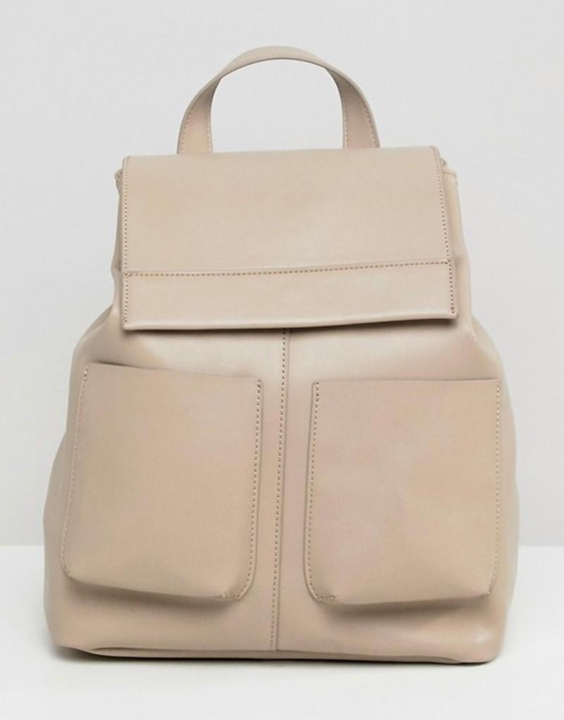 エイソス レディース バックパック・リュックサック バッグ ASOS DESIGN slouchy backpack with oversized pockets Grey
