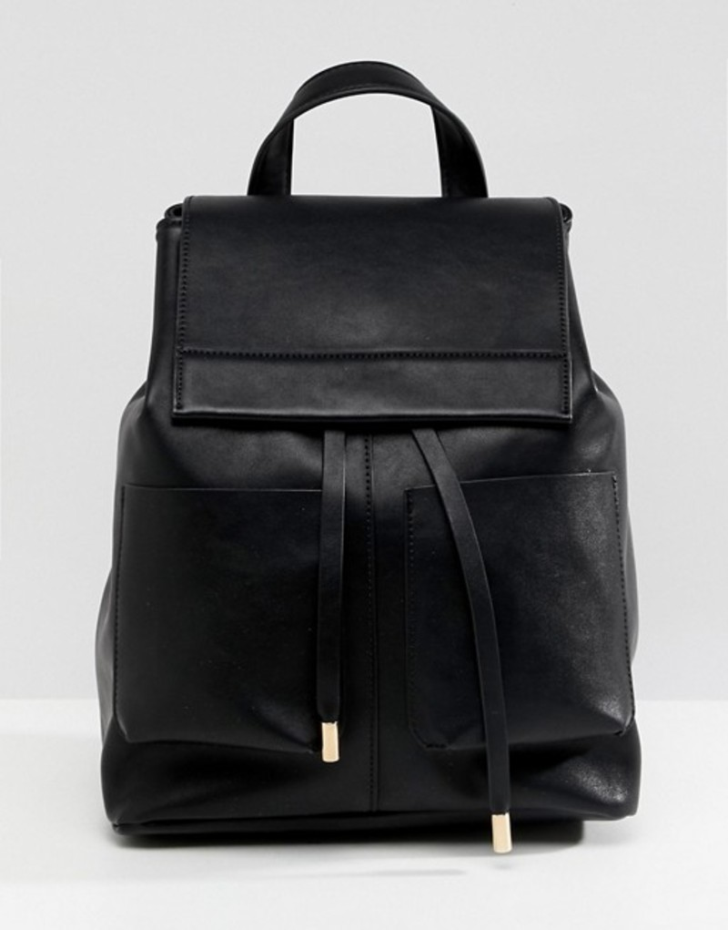 エイソス レディース バックパック・リュックサック バッグ ASOS DESIGN slouchy backpack with oversized pockets Black