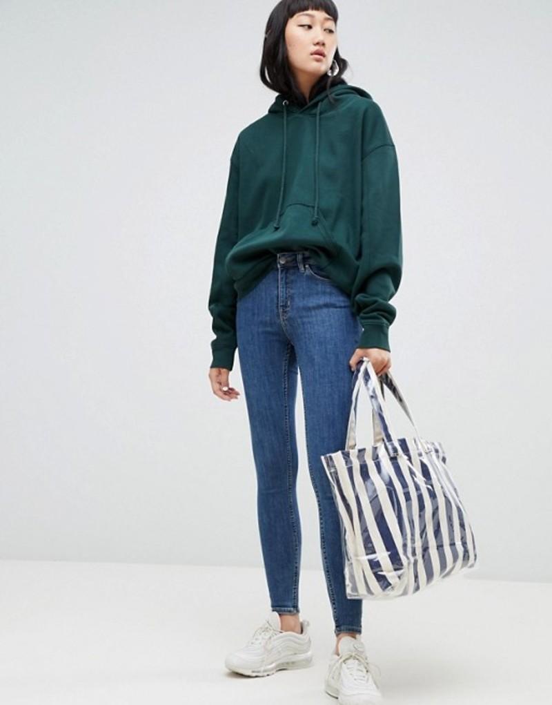 ウィークデイ レディース デニムパンツ ボトムス Weekday Body Super Stretch Skinny Jeans in Mid Standard Blue Mid standard blue