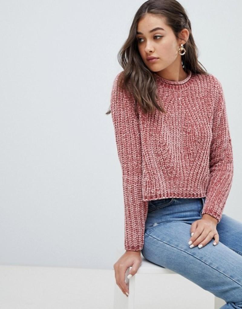 オンリー レディース ニット・セーター アウター Only chenille sweater Pink