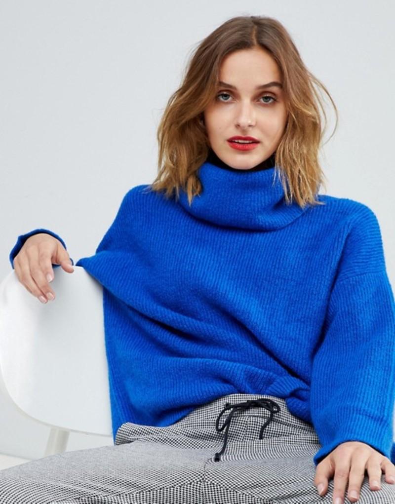 エスプリ レディース ニット・セーター アウター Esprit Oversized Chunky Sweater Blue