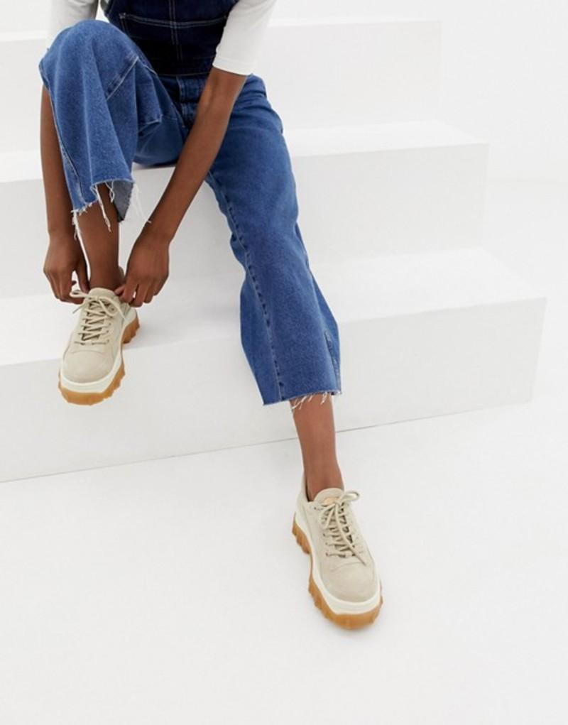 ブロンクス レディース スニーカー シューズ Bronx taupe suede chunky sneakers with gum sole Taupe