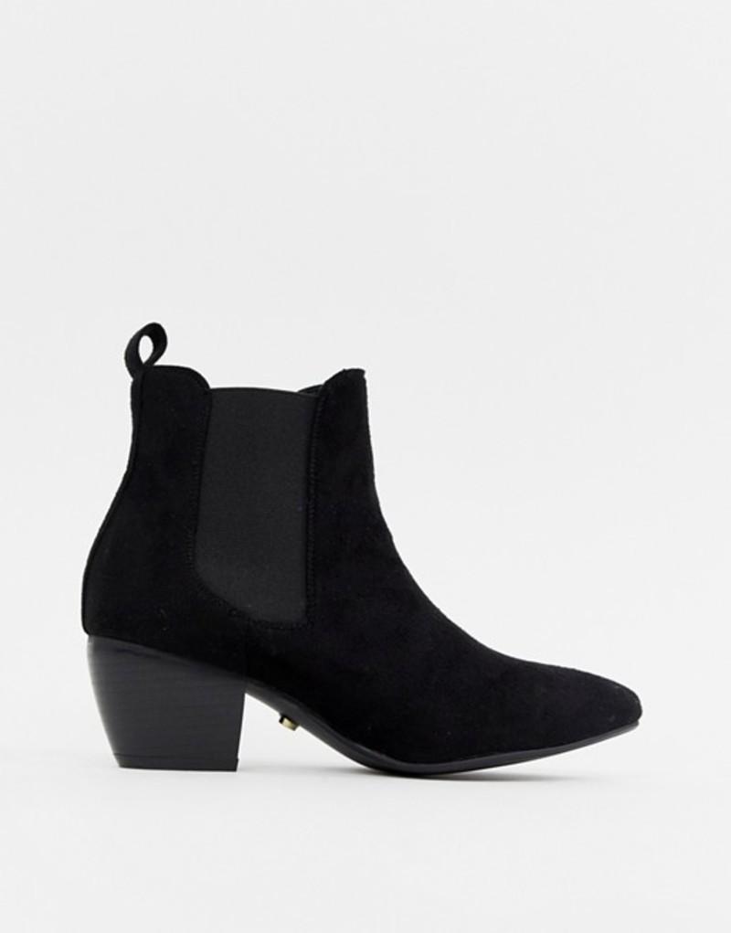 オアシス レディース ブーツ・レインブーツ シューズ Oasis heeled chelsea boots in black Black