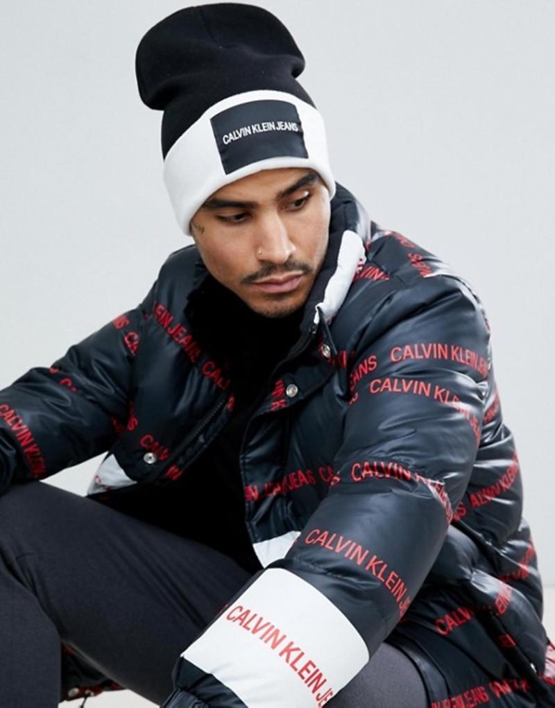 カルバンクライン メンズ 帽子 アクセサリー Calvin Klein Jeans Beanie Black