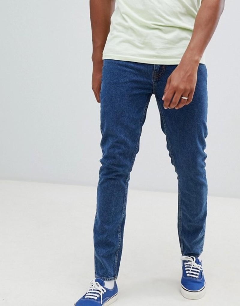 チープマンデー メンズ デニムパンツ ボトムス Cheap Monday Slim Tapered Jeans In Blue Norm core