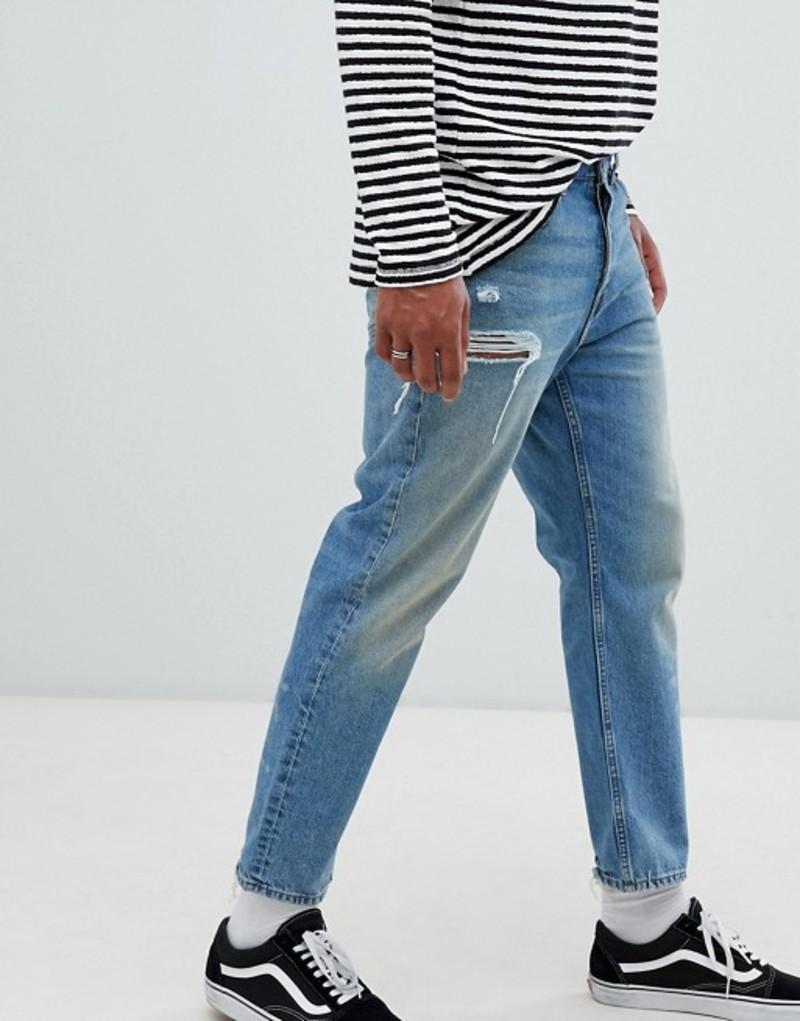 チープマンデー メンズ デニムパンツ ボトムス Cheap Monday 90s Fit Jeans In Blue Decay