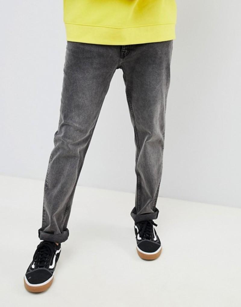 チープマンデー メンズ デニムパンツ ボトムス Cheap Monday Tapered Jeans In Black Black