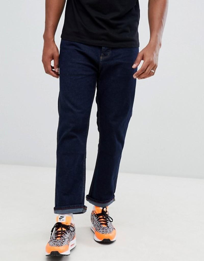 ベルシュカ メンズ デニムパンツ ボトムス Bershka Joinlife straight fit jeans in dark blue Dark blue