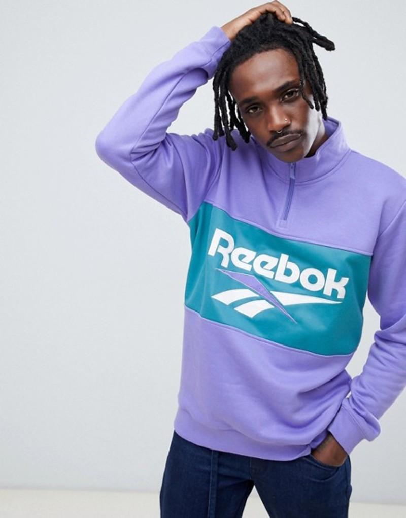 リーボック メンズ パーカー・スウェット アウター Reebook Classics Logo Half Zip Sweatshirt In Purple DX3887 Purple, 越生町:af3e5349 --- realizeinc.jp