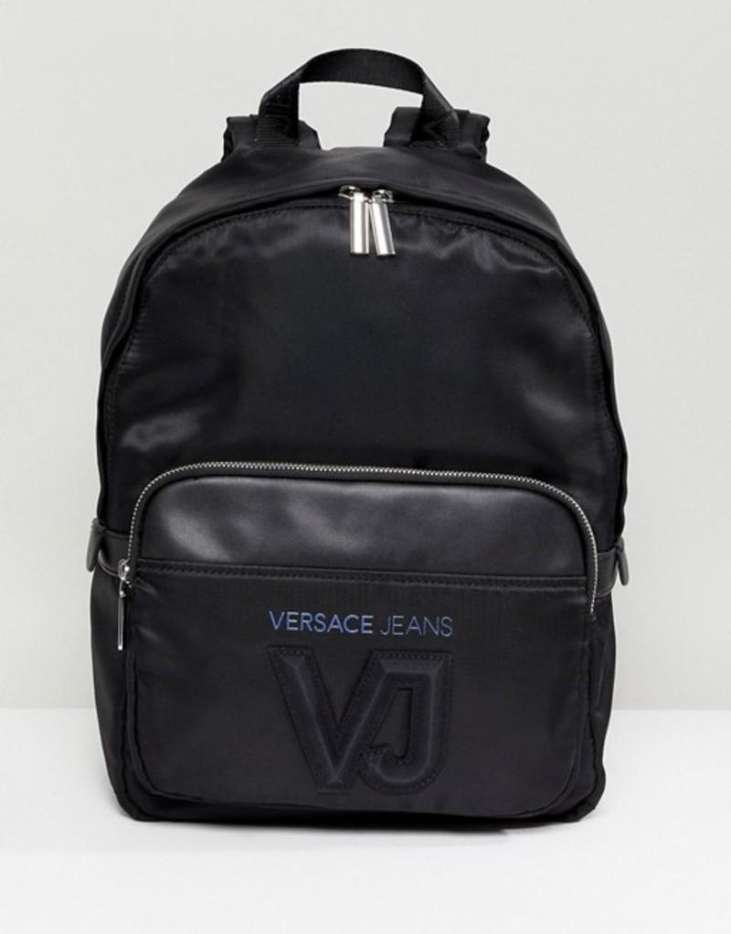 ヴェルサーチ メンズ バックパック・リュックサック バッグ Versace Jeans backpack in black with logo Black