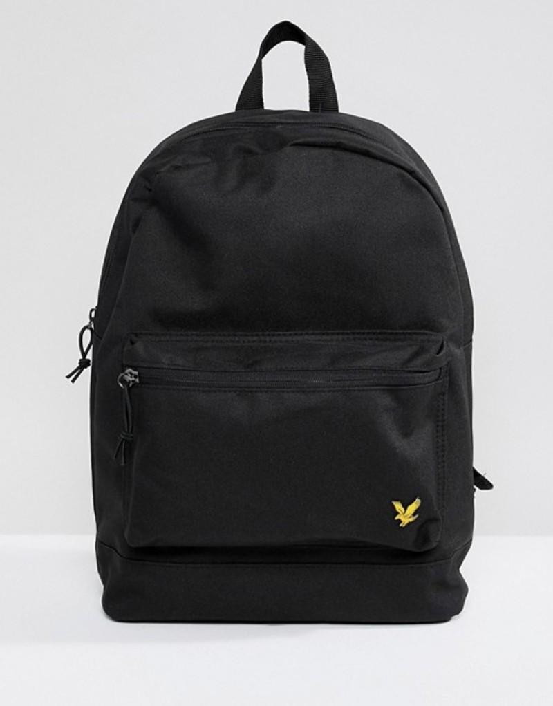 ライルアンドスコット メンズ バックパック・リュックサック バッグ Lyle & Scott logo backpack in black Black