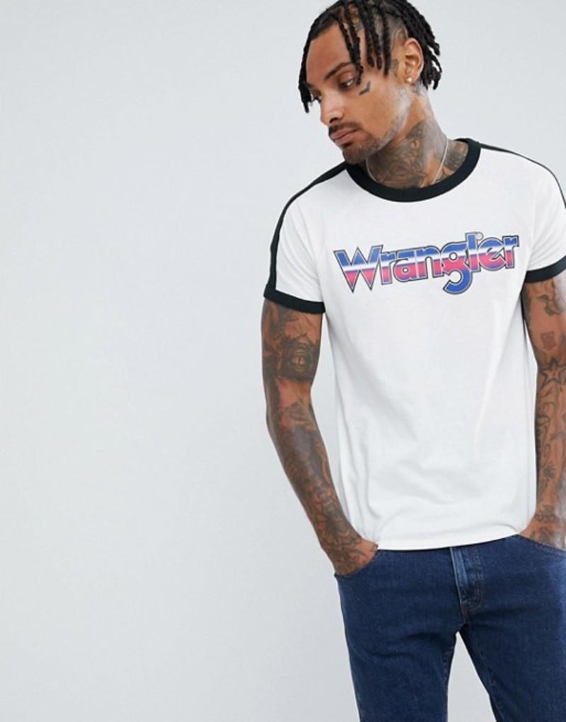 ラングラー メンズ Tシャツ トップス Wrangler raglan logo t-shirt Vaporous gray