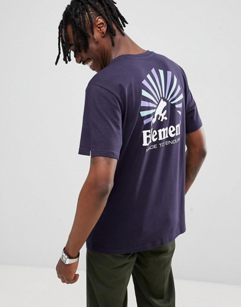 エレメント メンズ Tシャツ トップス Element Rising Back Print T-Shirt In Navy Navy