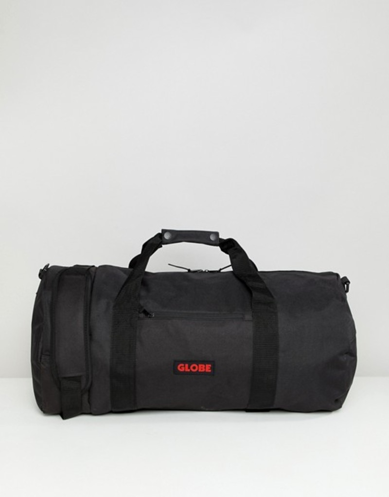 グローブ メンズ ボストンバッグ バッグ Globe nylon duffel bag with logo patch in black Black