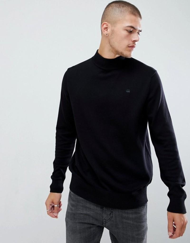 ジースター メンズ ニット・セーター アウター G-Star Turtleneck Sweater Black
