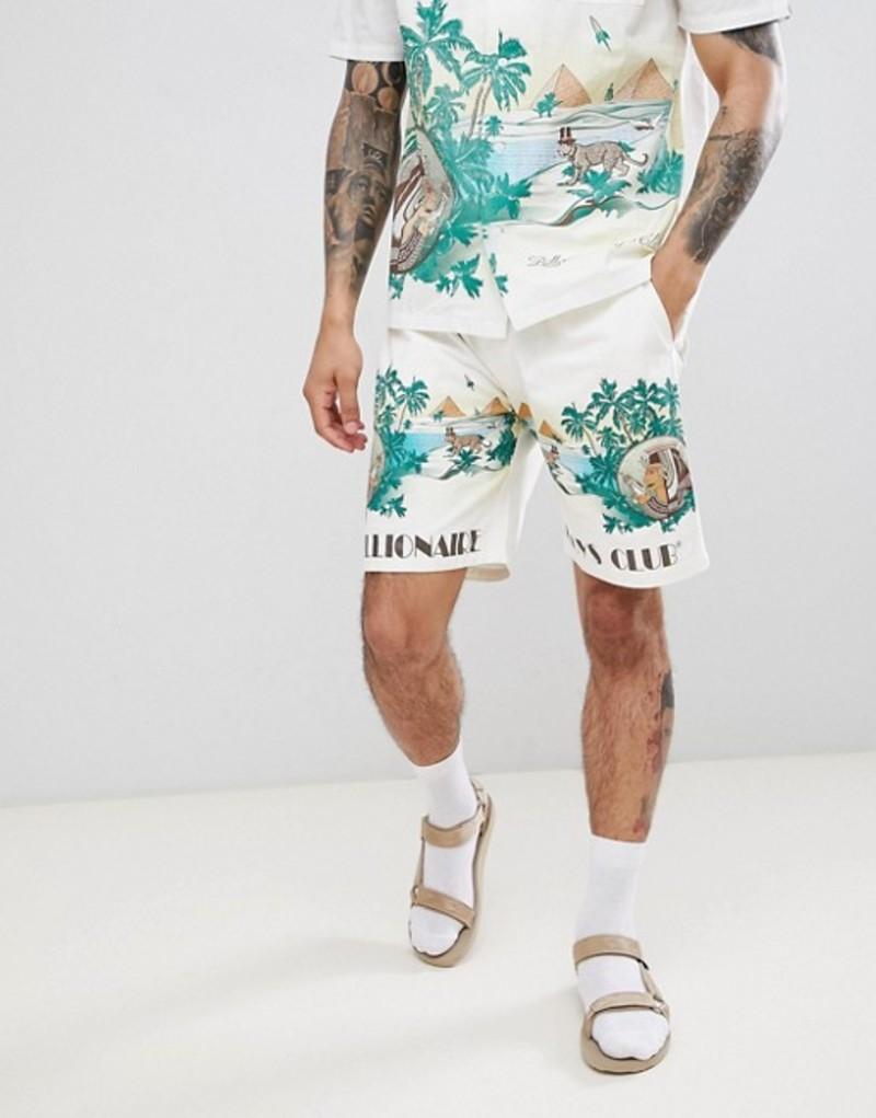 ビリオネアボーイズクラブ メンズ ハーフパンツ・ショーツ ボトムス Billionaire Boys Club landscape scenery shorts in white White
