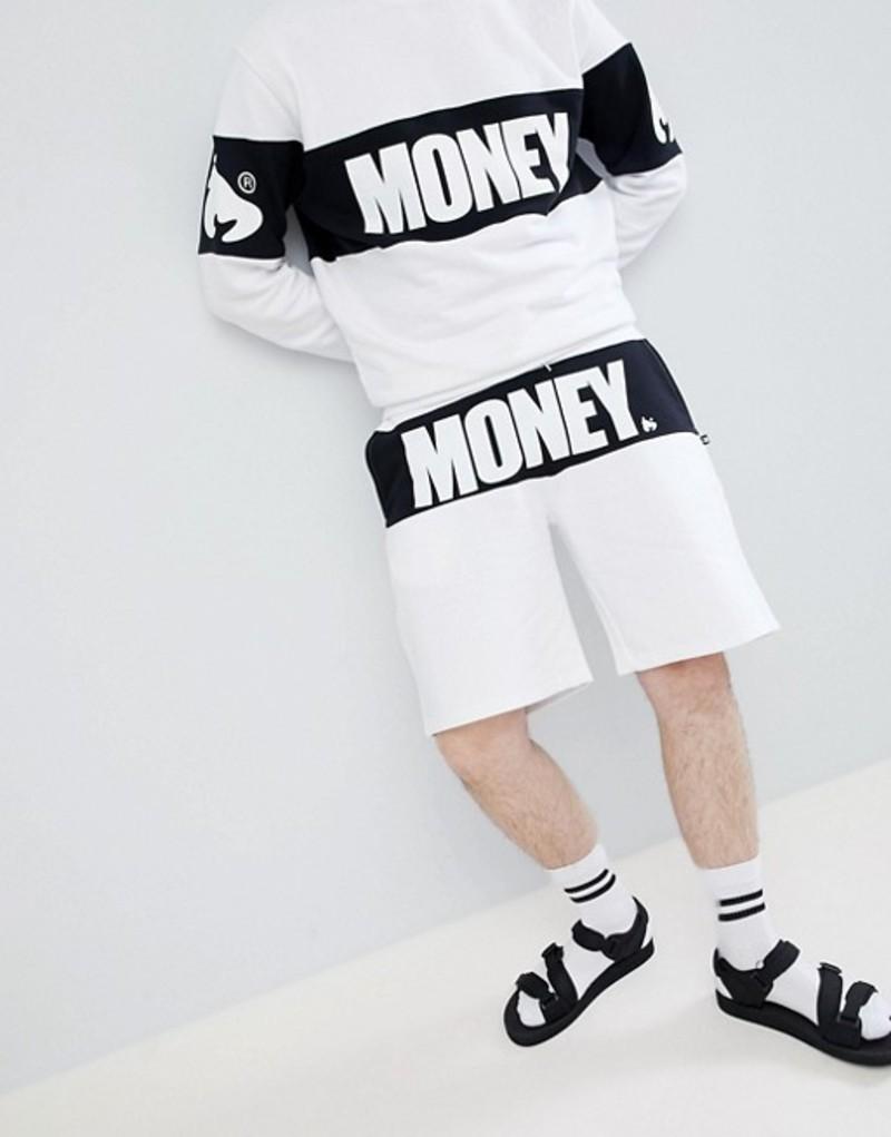 マネー メンズ ハーフパンツ・ショーツ ボトムス Money block shorts in white with panel White