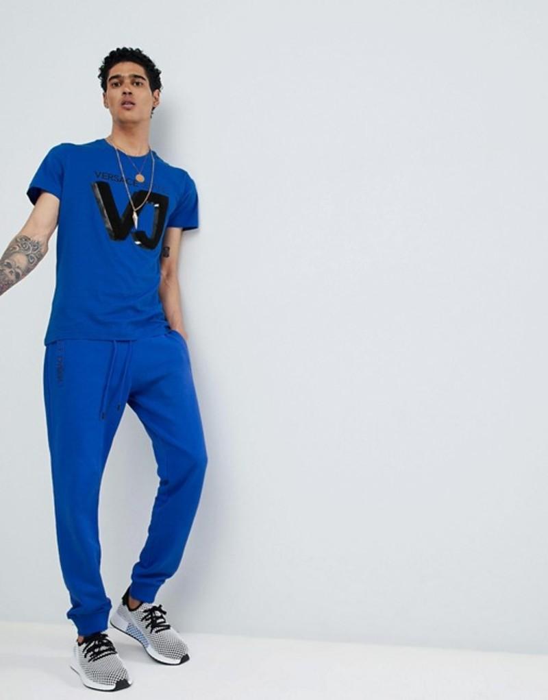 ヴェルサーチ メンズ カジュアルパンツ ボトムス Versace Jeans skinny joggers in blue Blue
