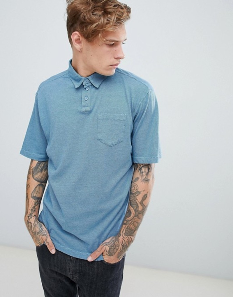 クイックシルバー メンズ ポロシャツ トップス Quiksilver Strolo7 Polo Blue