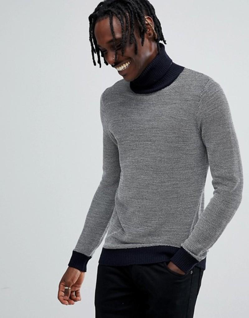 アンソニーモラート メンズ ニット・セーター アウター Antony Morato turtleneck knitted sweater in gray Grey