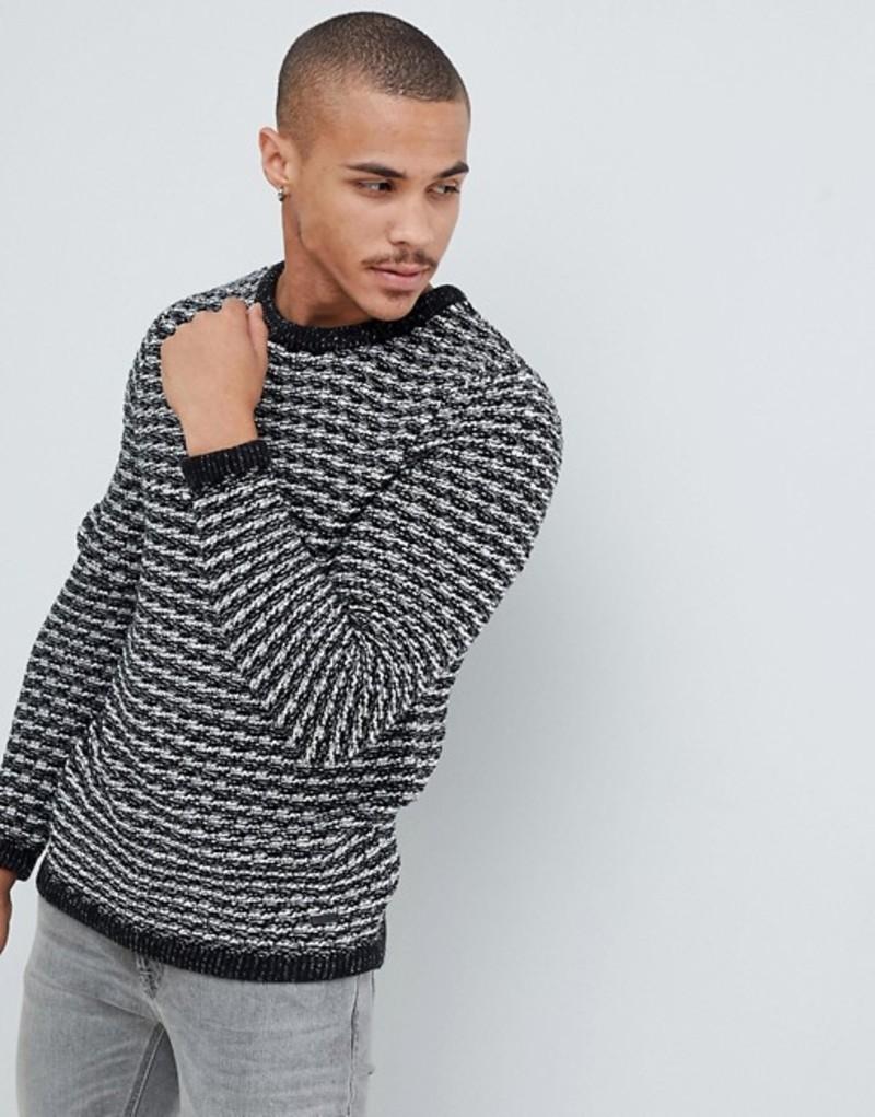 オンリーアンドサンズ メンズ ニット・セーター アウター Only & Sons chunky knitted sweater Medium grey melange
