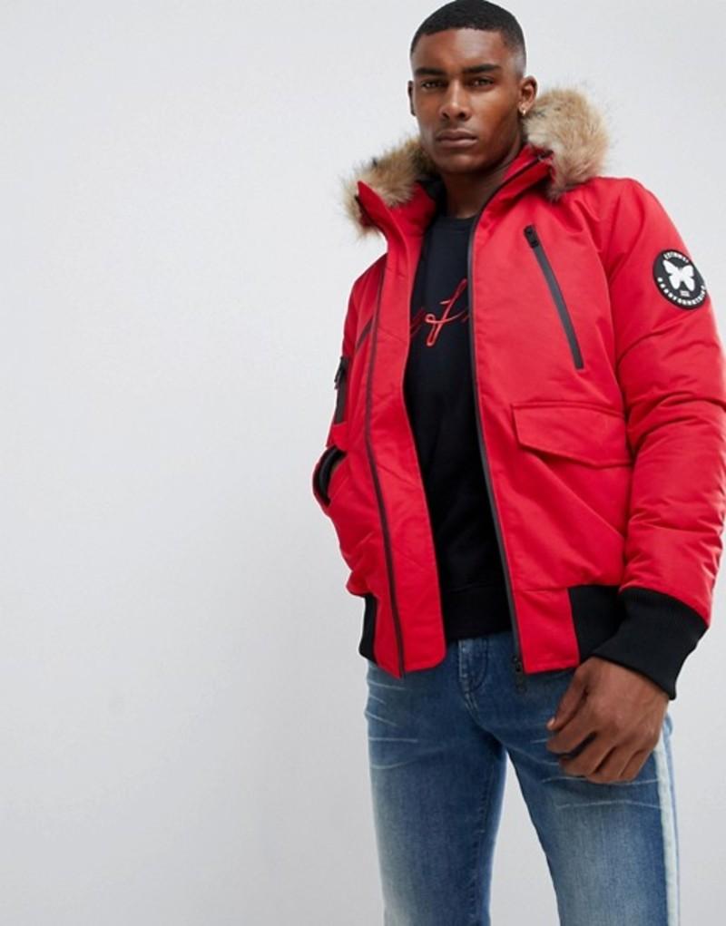グッドフォーナッシング メンズ パーカー・スウェット アウター Good For Nothing parka jacket in red Red