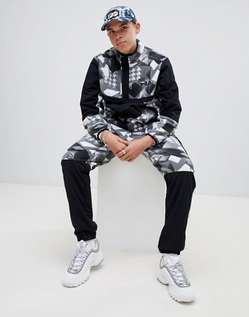 フィラ メンズ カジュアルパンツ ボトムス Fila x Liam Hodges technical fleece printed joggers In black Black